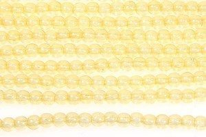 Transparent Lemon Round Beads