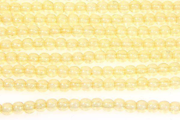 Transparent Lemon Round Beads