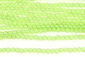 Spring Green Round Beads
