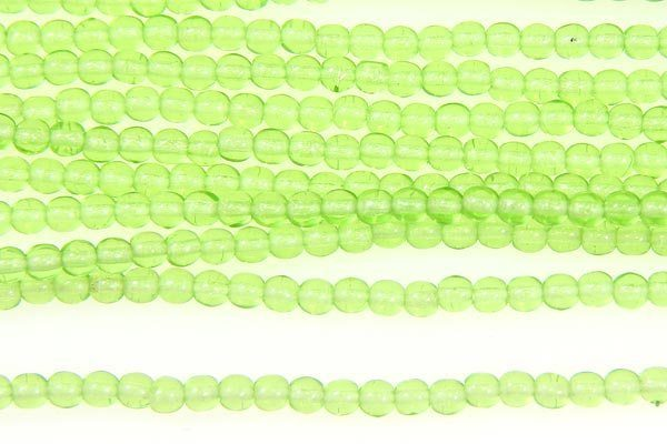 Spring Green Round Beads