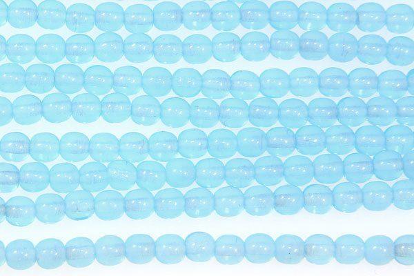 Sky Blue Milky Round Beads