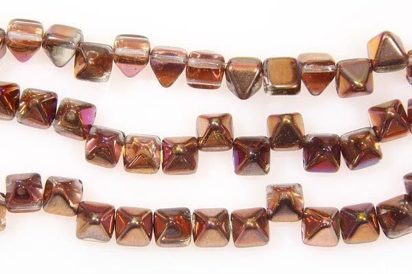 Pink Bronze 2-Hole Pyramid
