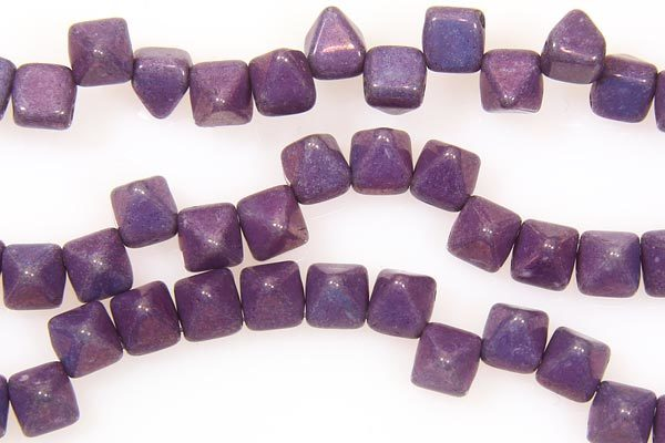 Frosted Plum Lustre 2-Hole Pyramid