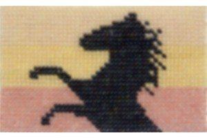 arazzo prancing horse