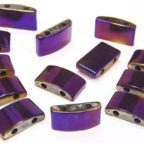 Mystic Purple Rectangle Hematite Duo