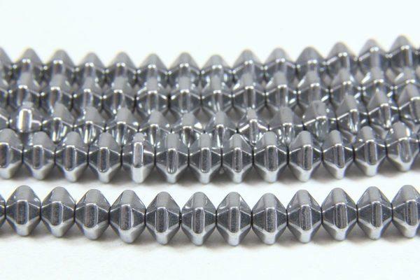 Hematite Silver Bicones