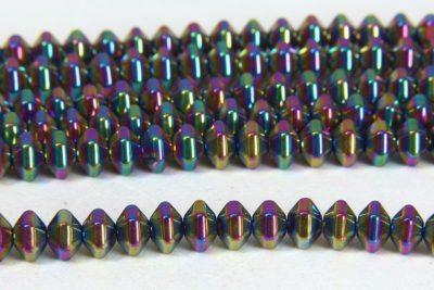 Hematite Rainbow Bicones