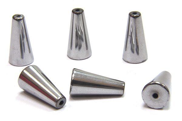 Silver Hematite Cone