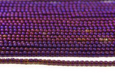 Mystic Purple Round Hematite