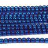 Electric Blue Round Hematite