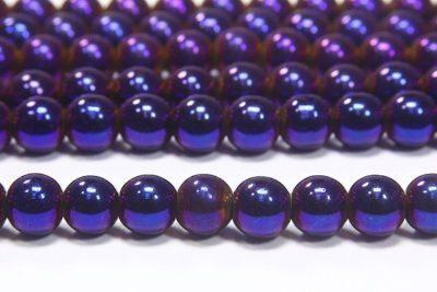 Elecric Purple Round Hematite