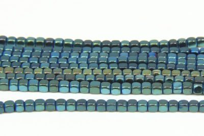Bluegrass Rounded Hematite Cubes