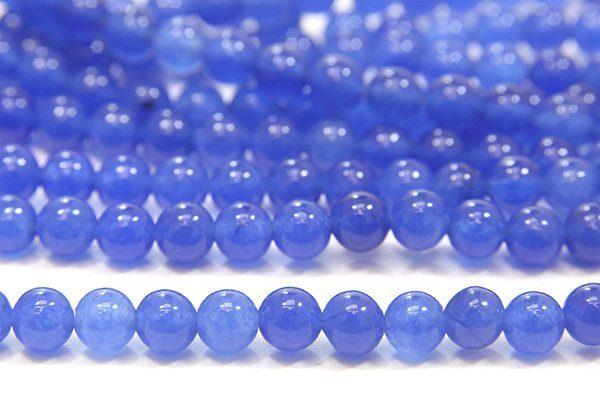 Blue Jade 4mm Gemstone Round