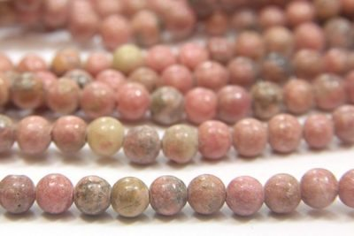 Rhodenite 4mm Gemstone Round