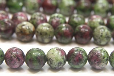 Ruby in Zoazite 8mm Gemstone Round
