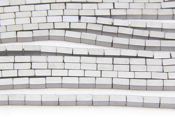 Matte Silver Hematite Bricks