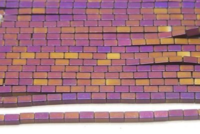 Matte Mystic Purple Hematite Bricks