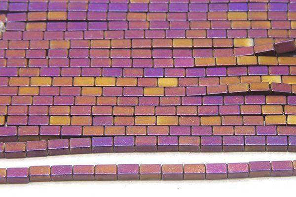Matte Mystic Purple Hematite Bricks