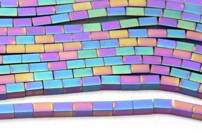 Matte Rainbow Hematite Bricks