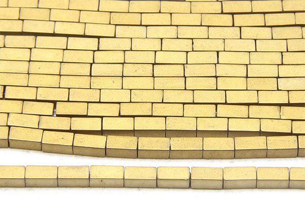 Matte Gold Hematite Bricks