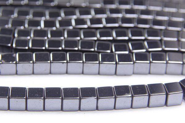 Natural 4mm Hematite Cube