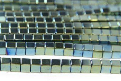Bluegrass 4mm Hematite Cube