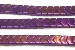 Mystic Purple Hematite Chevrons