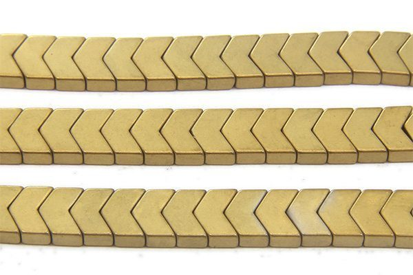 Matte Gold Hematite Chevrons