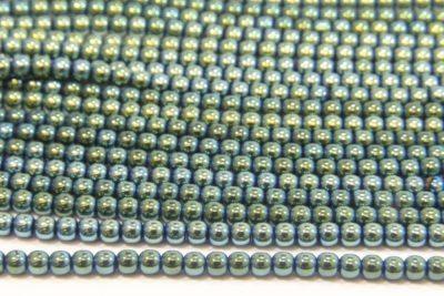 3mm Hematite Rounds