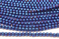 Electric Blue Round Hematite