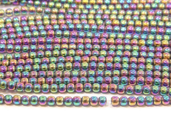 Rainbow Round Hematite