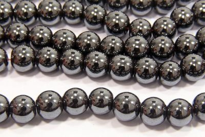 Natural 8mm Rounds Hematite