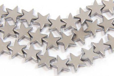 Silver 8mm Stars Hematite