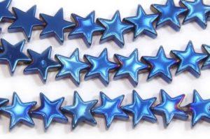 6mm Hematite Stars