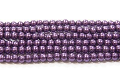 Iris Purple Glass Pearl