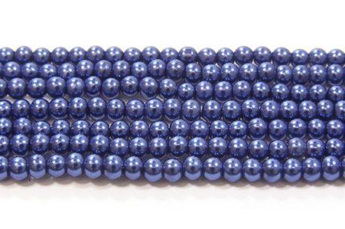 Midnight Blue Glass Pearl