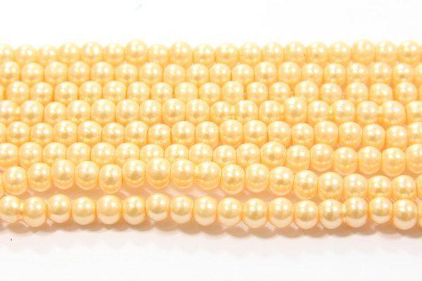 Soft Peach Glass Pearl
