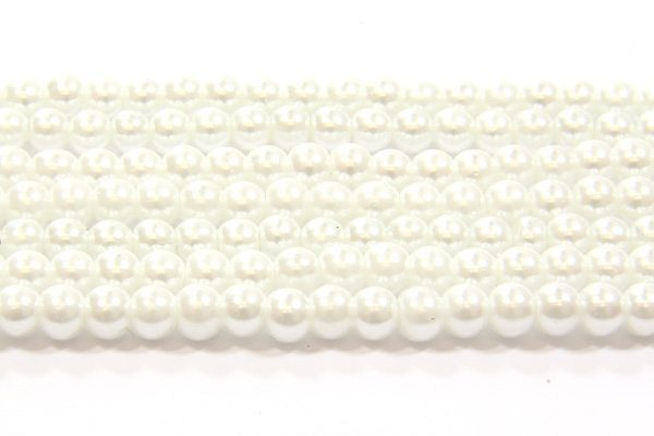 Misty White Glass Pearl