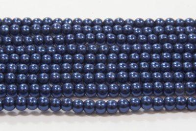 Deepwater Blue Glass Pearl