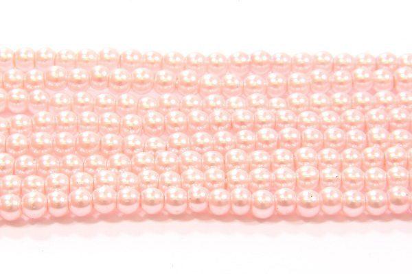 Flamingo Pink Glass Pearl