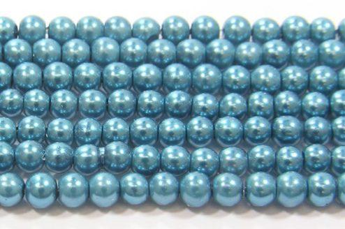 Peppermint Green Glass Pearl