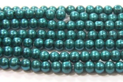 Emerald Green Glass Pearl