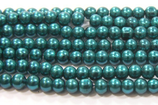 Emerald Green Glass Pearl