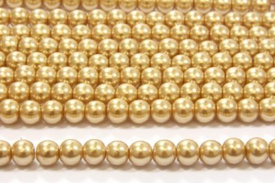 Sahara Gold Glass Pearl