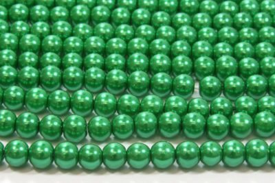 Elf Green Glass Pearl