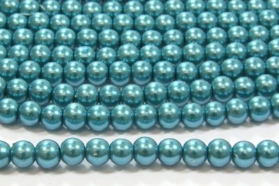 Peacock Green Glass Pearl
