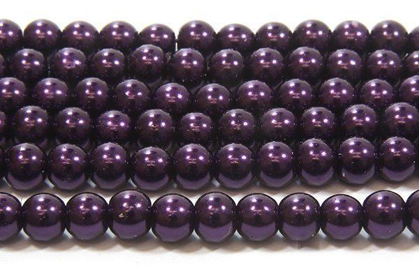 Midnight Purple Glass Pearl