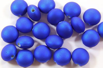 Electric Blue Satin Lentil