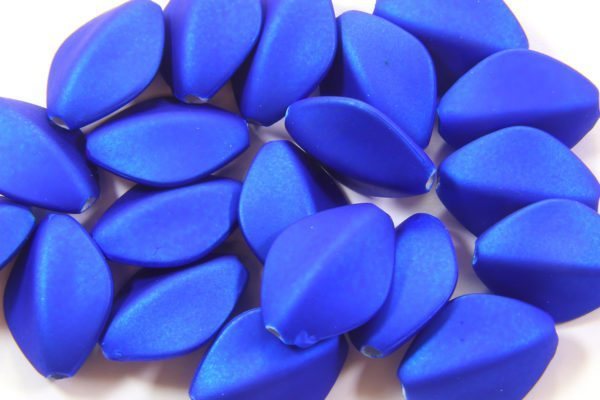Electric Blue Satin Oval