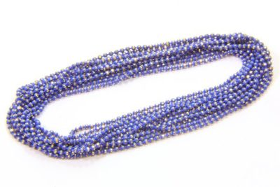 French Blue Shimmer Ball Chain